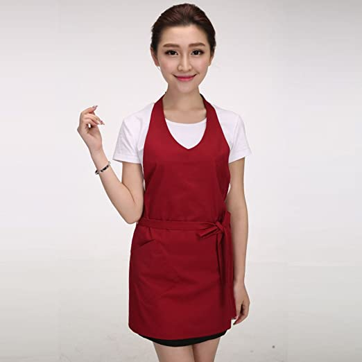 El traje de Wai/la cocina del cocinero delantales-F: Amazon ...