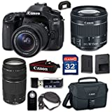 Canon EOS 80D Digital SLR Camera & EF-S 18-55mm f/4-5.6 IS STM Lens, EF 75-300mm f/4-5.6 III - WiFi Enabled with 32GB Class 10 Memory Card, Wireless Remote & 100ES Shoulder Bag