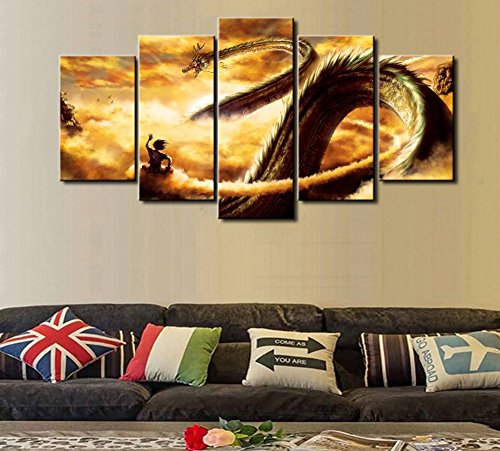 5 Pcs Dragon Ball Abstract Canvas - 5 piece Abstract Dragon Ball