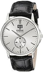 Edox Men's 64012 3 AIN Les Bemonts Analog Display Swiss Quartz Black Watch