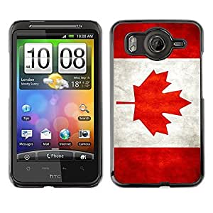 Shell-Star ( National Flag Series-Canada ) Snap On Hard Protective Case For HTC Desire HD / Inspire 4G