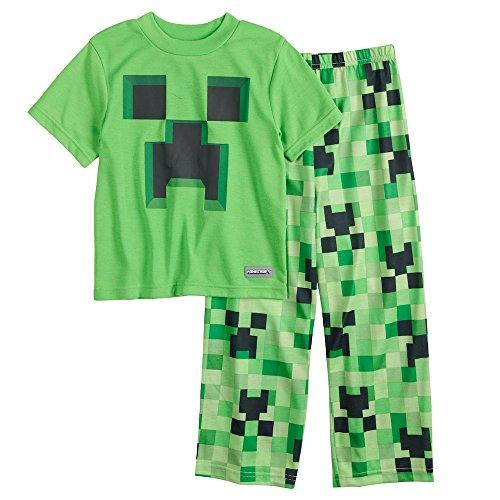 Boys Minecraft Creeper 2-Piece Pajama Set (12) -