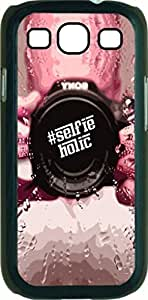 #SelfieHolic- Case for the Samsung Galaxy S III-S3- Hard Black Plastic Snap On Case