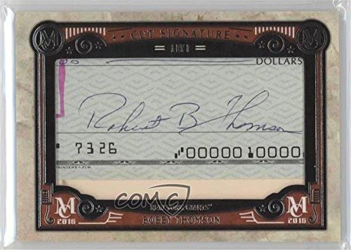Bobby Thomson #1/1 (Baseball Card) 2016 Topps Museum Collection - Cut Signatures #MCCS-BTH (Thomson Signature Baseball)