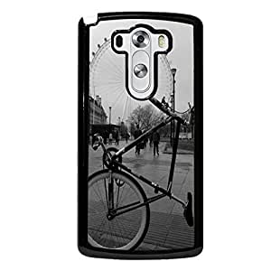 Famous Building Ferris Wheel Cover Shell Retro Creative Bicycle Design Beautiful Sceneary The London Eye Phone Case Cover for LG G3