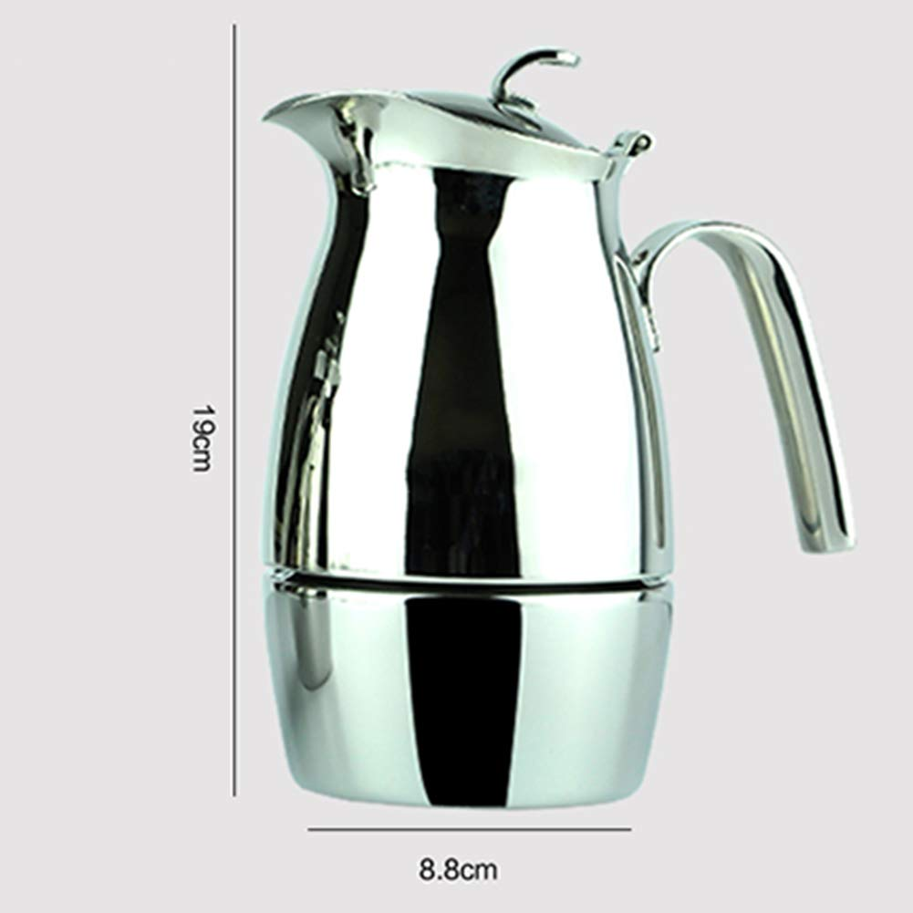 Coffee Pot Tea Pot Coffee Kettle Espresso Coffee Maker Coffee Machine French Coffee Press Mocha Household Stainless Steel Induction Cooker (Color : Stainless Steel, Size : 8.819cm) by GAOFENG-coffee pots (Image #2)