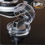 Convenient-Life 8Pack Stove Knob Covers Oven and Stove Knob Covers for Child Safety Baby Kitchen Toddler Protection Full Clear View, Inner Diameter 2.22''