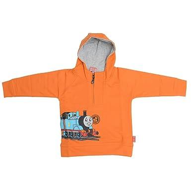 SPARK orange Color Cotton Kids Hoodies,(Size-24): Amazon in