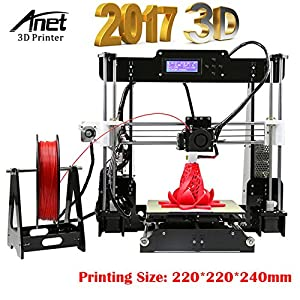 Sinis 3d printings anet a8 3d printer with large printing size 220220240mm reprap prusa i3 desktop diy 3d printer kit