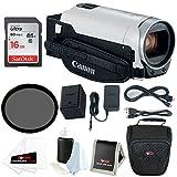 Focus Camera Canon VIXIA HFCanon VIXIA HF R800 Camcorder (White) with 16GB Bundle