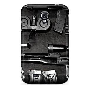 New Ak47 And Dragunov Weapons Tpu Case Cover, Anti-scratch Pbe3046LjtC Phone Case For Galaxy S4