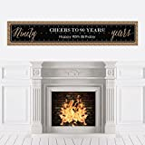 Chic 90th Birthday - Black and Gold - Party Decorations Party Banner