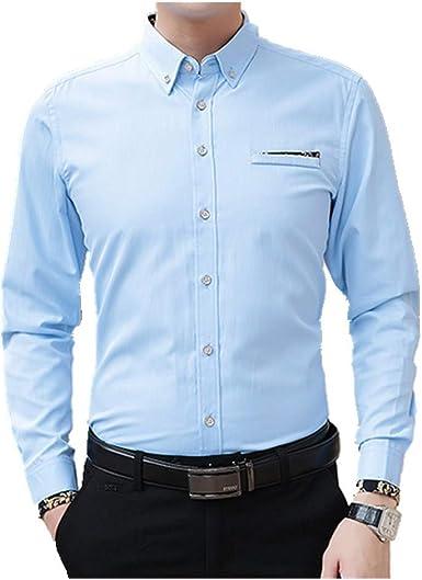 U/A Camisa de hombre de negocios, ocio, ajuste, ventilación ...