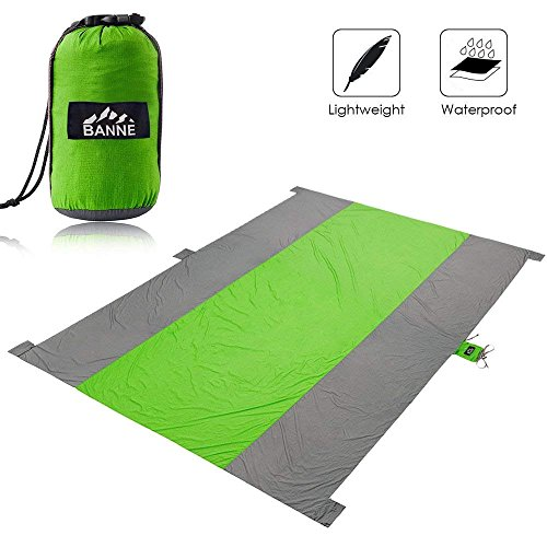 Banne Beach Blanket Outdoor Picnic Blanket Extra Large Waterproof Camping Mat Portable for Outdoor Uses