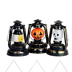 katoot @ Halloween calabaza farol de bruja calavera plástico lámpara de mesa luz adornos manualidades hogar Bar KTV Fiesta de Halloween Decoración de eventos