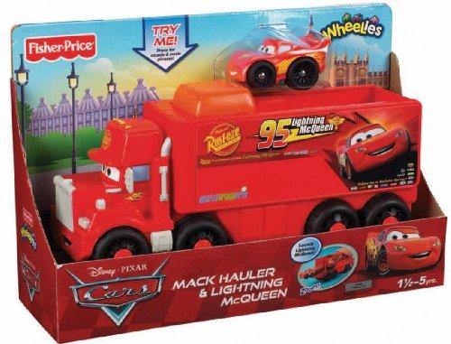 Lightning Mcqueen Mack Truck Hauler : Fisher price little people wheelies disney pixar cars mack