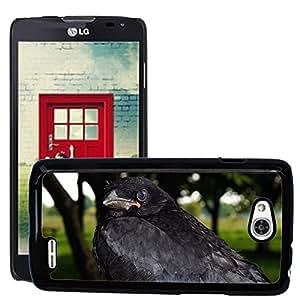 Super Stella Slim PC Hard Case Cover Skin Armor Shell Protection // M00146133 Crow Raven Bird Raven Bird Black // LG Optimus L90 D415