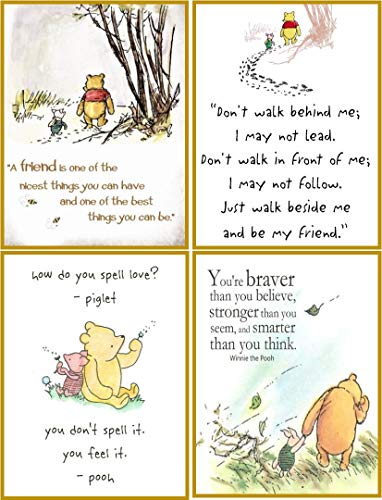(Classic Winnie the Pooh 8 stationery set with quotes envelopes an organza bag)