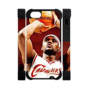 Hoomin Lebron James Last Shot Case For Iphone 5C Cover Cell Phone Cases Cover Popular Gifts(Dual protective)