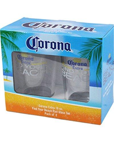 CORONA Extra BEACH Glass 2 Pack