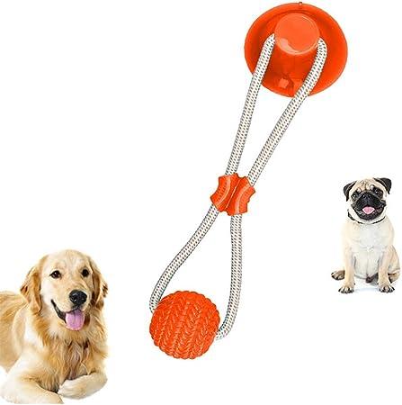 Imagen deFOHYLOY Juguete de mordida para Mascotas multifunción, Juguete de Cuerda para Tirar, Resistente, Juguete con Ventosa, Tugging, Tirar, Masticar, Jugar para Perros