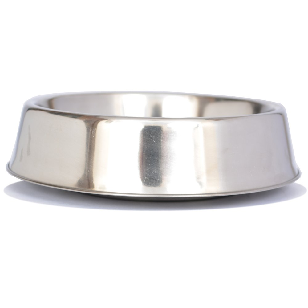 Iconic Pet 1-Cup Anti Ant Stainless Steel Non Skid Pet Bowl for Dog or Cat, 8-Ounce
