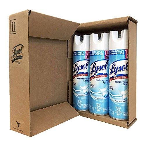 Lysol Disinfectant Spray, Crisp Linen, 57oz (3X19oz)