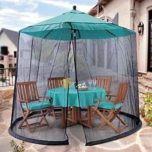 Amazon Com Umbrella Mosquito Net Canopy Patio Table Set