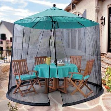 Umbrella Mosquito Net Canopy Patio Table Set Screen House   Premium Netting  Standard Size