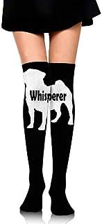 ruichangshichengjie Women's Knee High Sport Long Sock Dog Text for Football Sport Long Stockings
