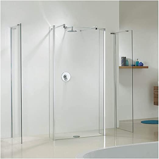 Shower Screens & Shower Walls Mampara de Ducha y Pared de Ducha (Fija), 250 mm (w) Panel de Cristal de Retorno – 8 mm de Cristal de Seguridad de Fácil Limpieza: Amazon.es: Hogar
