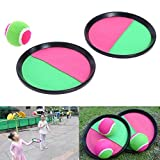GreenSun TM Children Sticky Ball Toys Indoor&Outdoor Fun Sports Parent-child Interactive Throw and Catch Sticky Target Racket Ball Games