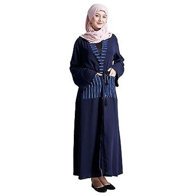 Vovotrade Mujeres Musulmanas Frente Abierta Cardigan Vintage ...