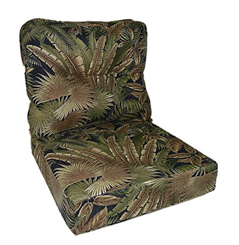 Tommy Bahama Fabric - Tan, Black, Green Tropical Palm Lea...
