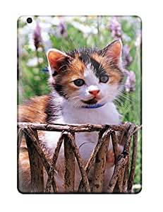 New Premium AnnDavidson Kitten In A Basket Skin Case Cover Excellent Fitted For Ipad Air