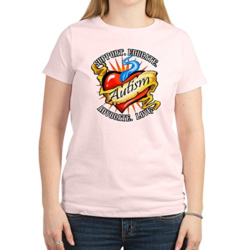 CafePress - Autism Classic Tattoo - Womens Cotton T-Shirt, Crew Neck, Comfortable & Soft Classic Tee