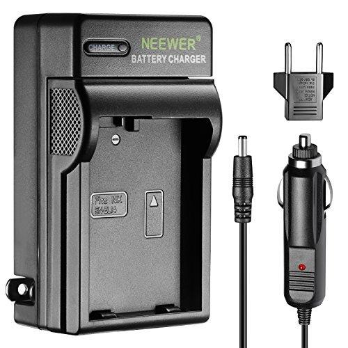 Neewer LED Cargador Batería para Nikon EN-El14 con Adaptador Cargador Enchufe Coche US y EU, Compartible para Nikon D3200...