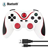 HBetterTech Unique Design Ultra-comfort Wireless Bluetooth Game Controller Cordless Control Pad for Playstation 3 Console-White&Orange Review