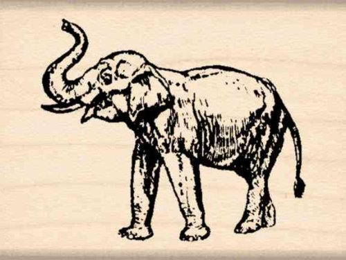 Elephant Rubber Stamp - 1-1/2 inches x 2 inches