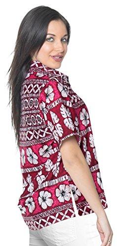 hawaiische Bademoden Hemdkleid mit kurzen �rmeln Spitzenbluse Knopf unten xxl Damen verschleiern