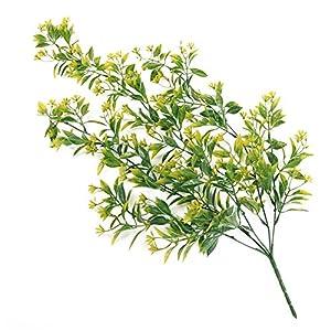 dezirZJjx Artificial Plants 1 Bouquet 78cm 5 Branches Wedding Artificial Flower Fake Vine Wall Hanging Decor - Yellow 40