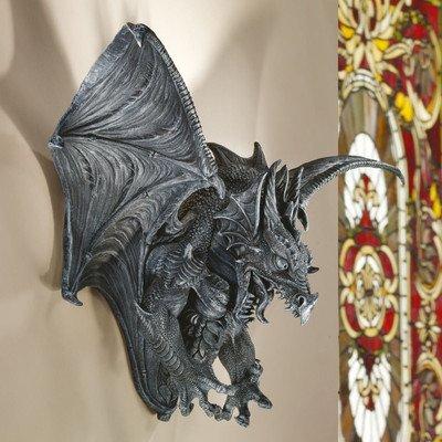 Design Toscano Vengeance, the Dragon Wall Sculpture - Halloween Holiday wall decor
