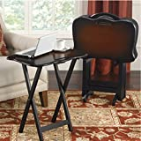 Bombay Furniture Company Best Deals - Bombay® Snack Table Set. TV Trays, Oriental Style, Portable, Carrying Handles and Stand.