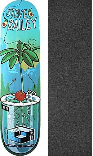西政令ジョブConsolidatedスケートボードSteve Bailey Sproutスケートボードデッキ – 8.12 X 32 cmでMob Grip Perforated Griptape – 2アイテムのバンドル