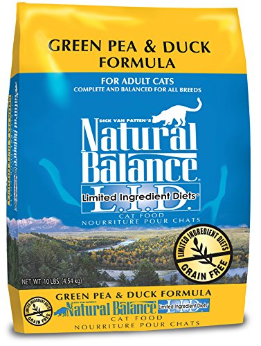 Natural-Balance-LID-Limited-Ingredient-Diets-Dry-Cat-Food-Grain-Free-Green-Pea-Duck-Formula-10-Pound