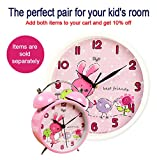 Mehousa Silent 10 inch Bunny Wall Clock for Kids
