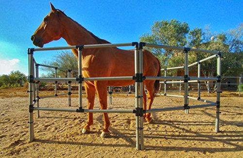 (Portable Horse Corral Box Set: Heavy Duty 10 Panels; 3 Rails)