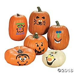 Foam Pumpkin Decorations Craft Kit Makes...