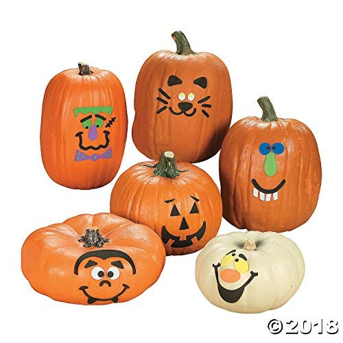 Foam Pumpkin Decorations Craft Kit Makes 12 Pumpkins ()