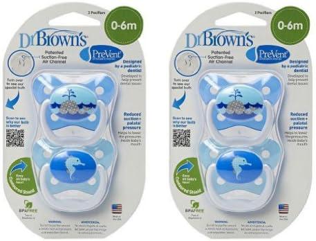 Dr. Brown s prevenir los chupetes azul 0 - 6 meses (2 ...